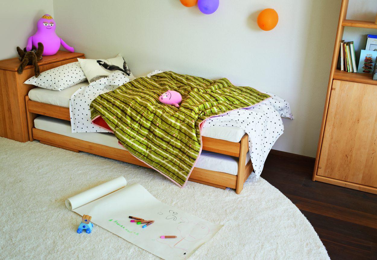 Team 7 mobile kinderzimmer tandemliege wien for Doppelbett platzsparend